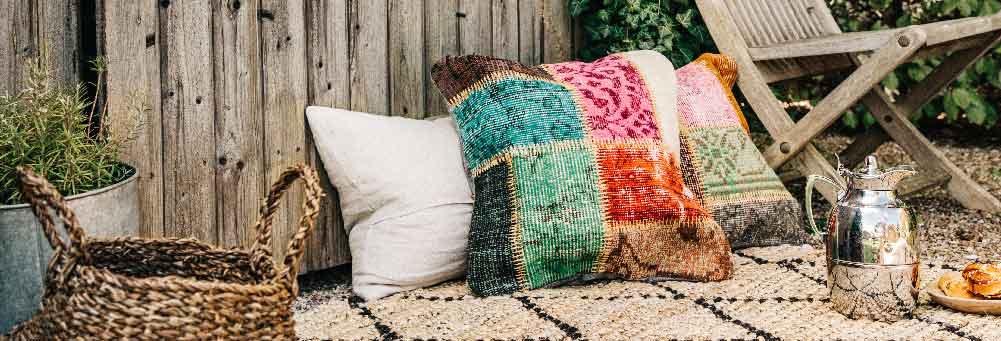 Kussenhoes van patchwork