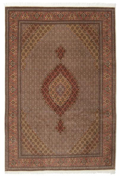Tabriz 50 Raj Met Zijde Vloerkleed 200X301 Echt Oosters Handgeknoopt Bruin/Donkerbruin (Wol/Zijde, Perzië/Iran)