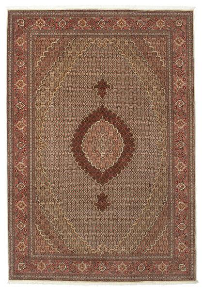 Tabriz 50 Raj Met Zijde Vloerkleed 205X299 Echt Oosters Handgeknoopt Donkerrood/Bruin/Lichtbruin (Wol/Zijde, Perzië/Iran)