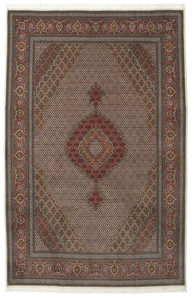 Tabriz 50 Raj Met Zijde Vloerkleed 205X315 Echt Oosters Handgeknoopt Donkerbruin/Bruin (Wol/Zijde, Perzië/Iran)