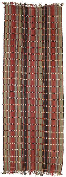 Kelim Konya Cicim Vloerkleed 161X433 Echt Oosters Handgeweven Tapijtloper Donkerbruin/Donkerrood (Wol, Turkije)