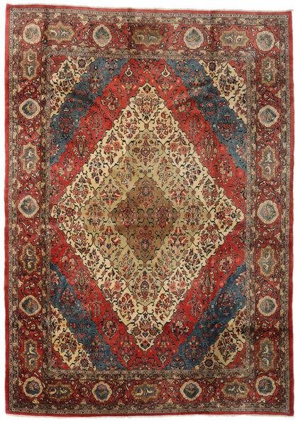 Sarough Vloerkleed 274X383 Echt Oosters Handgeknoopt Donkergrijs/Donkerbruin Groot (Wol, Perzië/Iran)