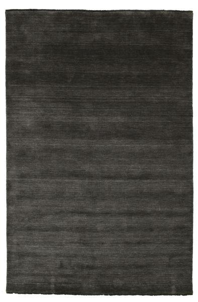 Handloom Fringes - Zwart/Grijs Vloerkleed 200X300 Modern Zwart (Wol, India)