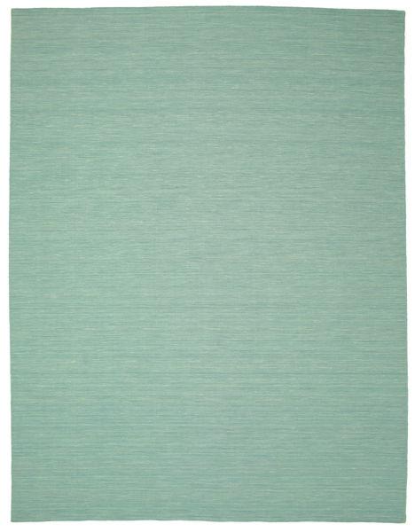 Kelim Loom - Mint Groen Vloerkleed 300X400 Echt Modern Handgeweven Pastel Groen/Turquoise Blauw Groot (Wol, India)