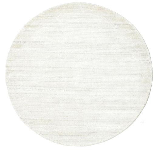 Bamboe Zijde Loom - Licht Natural Vloerkleed Ø 150 Modern Rond Beige ( India)
