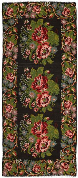 Rozenkelim Vloerkleed 168X395 Echt Oosters Handgeweven Tapijtloper Donkerbruin/Donkergroen (Wol, Moldavië)