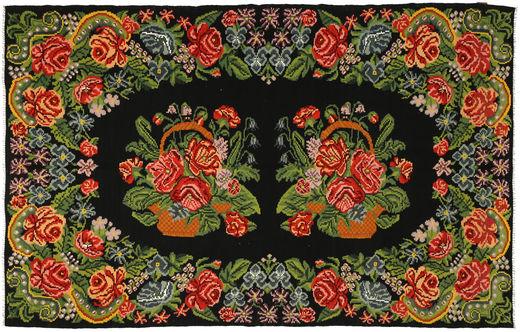 Rozenkelim Vloerkleed 191X304 Echt Oosters Handgeweven Donkergroen/Olijfgroen (Wol, Moldavië)