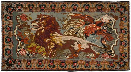Rozenkelim Vloerkleed 223X423 Echt Oosters Handgeweven Donkerbruin/Bruin (Wol, Moldavië)