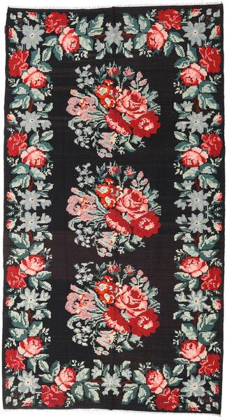 Rozenkelim Vloerkleed 177X327 Echt Oosters Handgeweven Zwart (Wol, Moldavië)