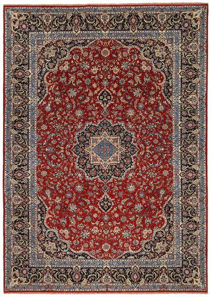 Ilam Sherkat Farsh Zijde Vloerkleed 245X350 Echt Oosters Handgeknoopt Donkerrood/Donkerbruin/Donkergrijs (Wol/Zijde, Perzië/Iran)