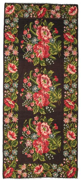 Rozenkelim Moldavia Vloerkleed 165X287 Echt Oosters Handgeweven Zwart/Donkergroen (Wol, Moldavië)