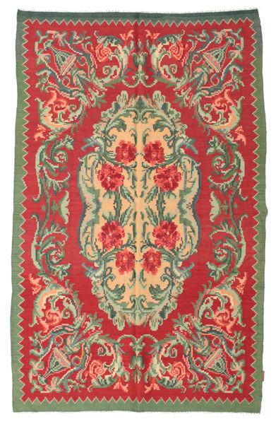 Rozenkelim Moldavia Vloerkleed 154X242 Echt Oosters Handgeweven Roestkleur/Olijfgroen (Wol, Moldavië)