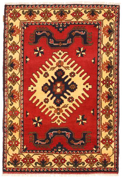 Kazak Vloerkleed 100X149 Echt Oosters Handgeknoopt Roestkleur/Donkerbruin (Wol, Pakistan)