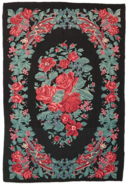 Rozenkelim Moldavia Vloerkleed 173X247 Echt Oosters Handgeweven Zwart/Turquoise Blauw (Wol, Moldavië)