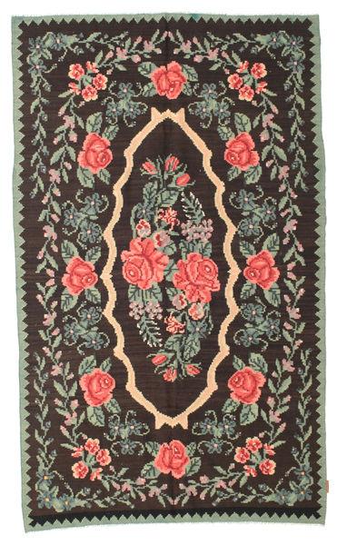 Rozenkelim Moldavia Vloerkleed 154X258 Echt Oosters Handgeweven Donkerbruin/Donkergrijs (Wol, Moldavië)