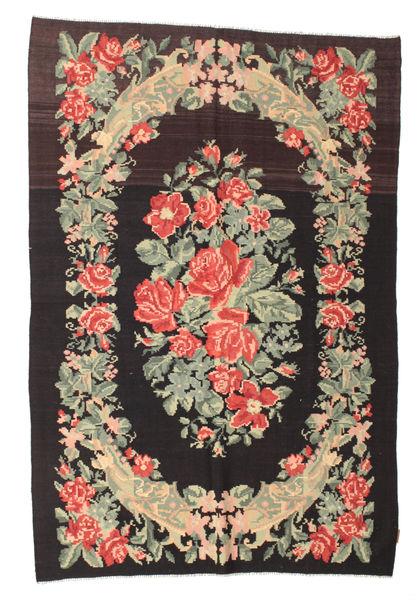Rozenkelim Moldavia Vloerkleed 169X252 Echt Oosters Handgeweven Zwart/Donkerbeige (Wol, Moldavië)