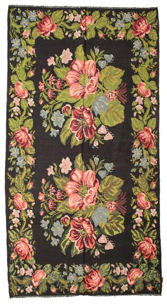 Rozenkelim Moldavia Vloerkleed 195X367 Echt Oosters Handgeweven Zwart/Donkerbruin (Wol, Moldavië)