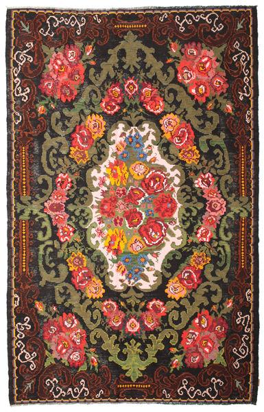 Rozenkelim Moldavia Vloerkleed 220X344 Echt Oosters Handgeweven Donkerbruin/Zwart (Wol, Moldavië)