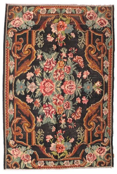 Rozenkelim Moldavia Vloerkleed 184X277 Echt Oosters Handgeweven Zwart/Donkergrijs (Wol, Moldavië)