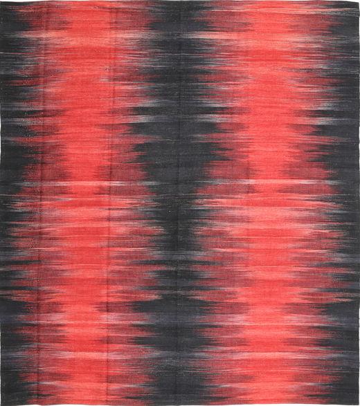 Kelim Moderne Vloerkleed 256X290 Echt Modern Handgeweven Donkergrijs/Rood Groot (Wol, Afghanistan)