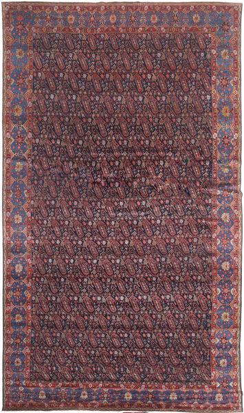 Senneh Vloerkleed 368X639 Echt Oosters Handgeknoopt Donkerbruin/Purper Groot (Wol, Perzië/Iran)