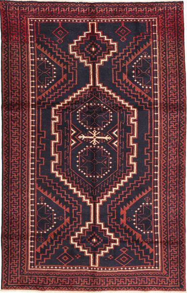 Lori Vloerkleed 160X255 Echt Oosters Handgeknoopt Zwart/Donkerrood (Wol, Perzië/Iran)
