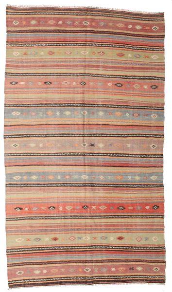 Kelim Semi-Antiek Turkije Vloerkleed 177X310 Echt Oosters Handgeweven Donkerrood/Donkerbruin (Wol, Turkije)