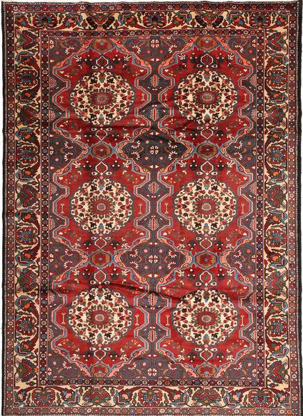 Bakhtiar Vloerkleed 222X310 Echt Oosters Handgeknoopt Donkerrood/Donkergrijs (Wol, Perzië/Iran)