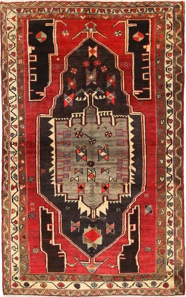 Lori Vloerkleed 152X238 Echt Oosters Handgeknoopt Donkerbruin/Roestkleur (Wol, Perzië/Iran)