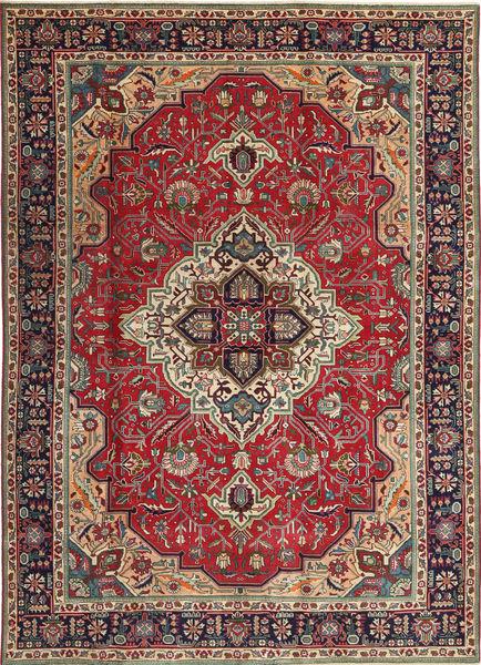 Tabriz Patina Vloerkleed 203X288 Echt Oosters Handgeknoopt Donkerrood/Donkerbruin (Wol, Perzië/Iran)