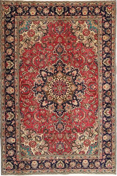 Tabriz Patina Vloerkleed 190X295 Echt Oosters Handgeknoopt Donkerrood/Donkerbruin (Wol, Perzië/Iran)