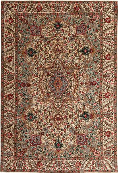 Tabriz Patina Vloerkleed 217X323 Echt Oosters Handgeknoopt Donkerbruin/Lichtbruin (Wol, Perzië/Iran)