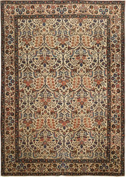 Tabriz Patina Vloerkleed 238X338 Echt Oosters Handgeknoopt Bruin/Donkergrijs (Wol, Perzië/Iran)