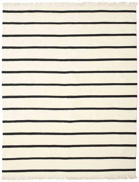 Dorri Stripe - Wit/Zwart Vloerkleed 200X250 Echt Modern Handgeweven Beige/Wit/Creme (Wol, India)