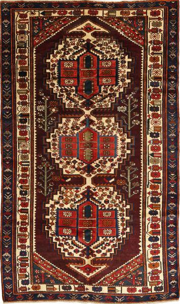 Bakhtiar Vloerkleed 156X280 Echt Oosters Handgeknoopt Donkerbruin/Donkerrood (Wol, Perzië/Iran)