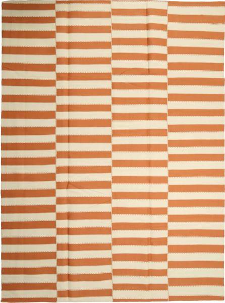 Kelim Moderne Vloerkleed 232X315 Echt Modern Handgeweven Beige/Oranje (Wol, Perzië/Iran)