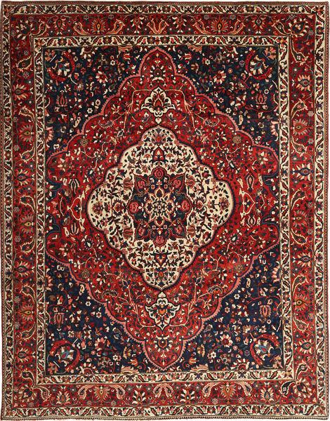 Bakhtiar Vloerkleed 260X345 Echt Oosters Handgeknoopt Donkerrood/Zwart Groot (Wol, Perzië/Iran)