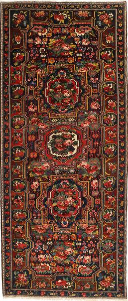 Bakhtiar Vloerkleed 160X395 Echt Oosters Handgeknoopt Tapijtloper Donkerbruin/Donkerrood (Wol, Perzië/Iran)