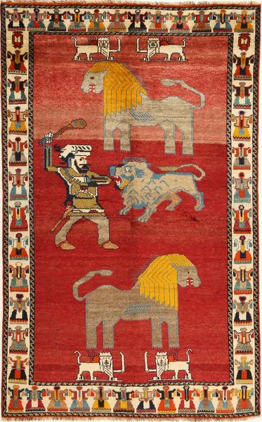 Ghashghai Vloerkleed 151X244 Echt Oosters Handgeknoopt Roestkleur/Donkerbruin (Wol, Perzië/Iran)