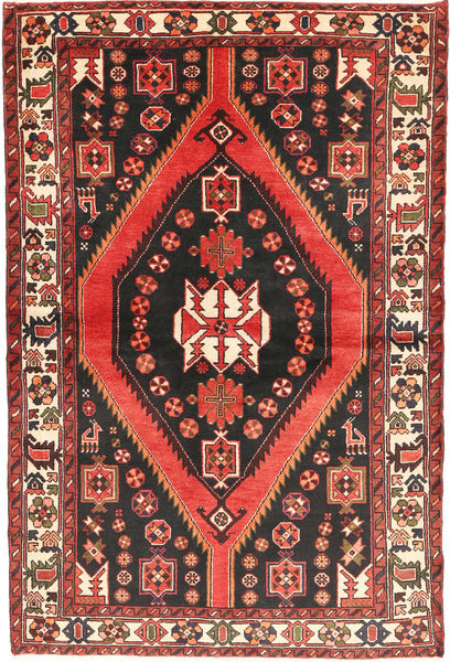 Bakhtiar Vloerkleed 147X220 Echt Oosters Handgeknoopt Donkerbruin/Donkerrood (Wol, Perzië/Iran)