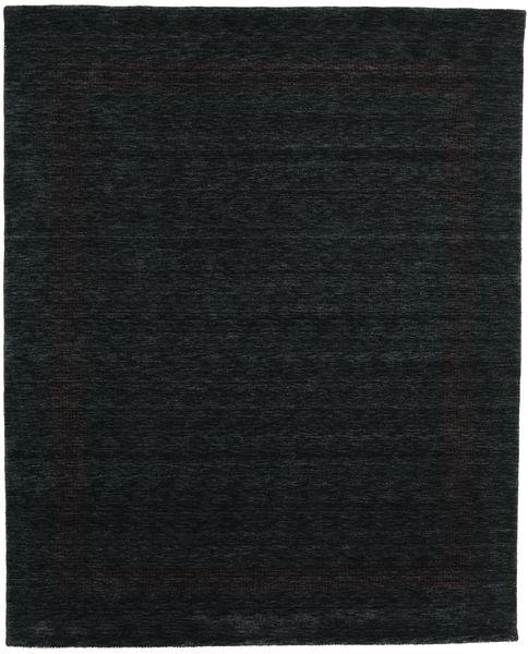 Handloom Gabba - Zwart/Grijs Vloerkleed 240X300 Modern Zwart (Wol, India)
