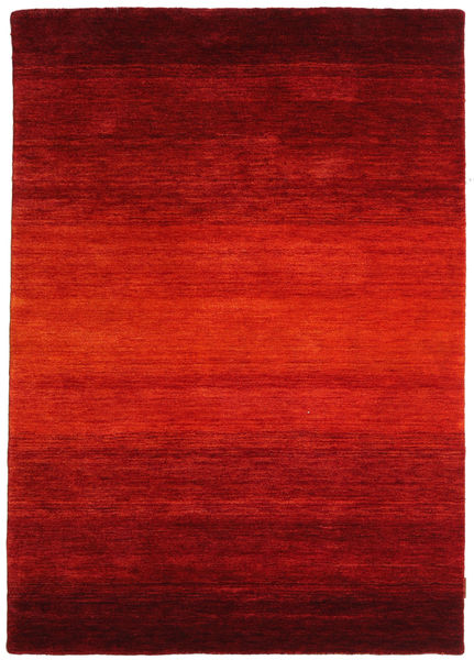 Gabbeh Rainbow - Rood Vloerkleed 140X200 Modern Roestkleur/Donkerrood (Wol, India)