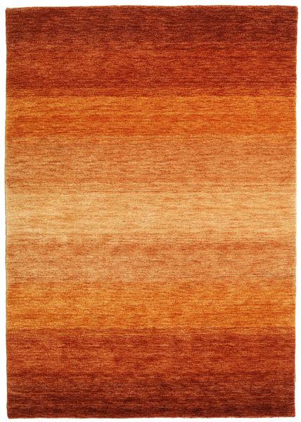 Gabbeh Rainbow - Roestkleur Vloerkleed 140X200 Modern Oranje/Roestkleur/Lichtbruin (Wol, India)