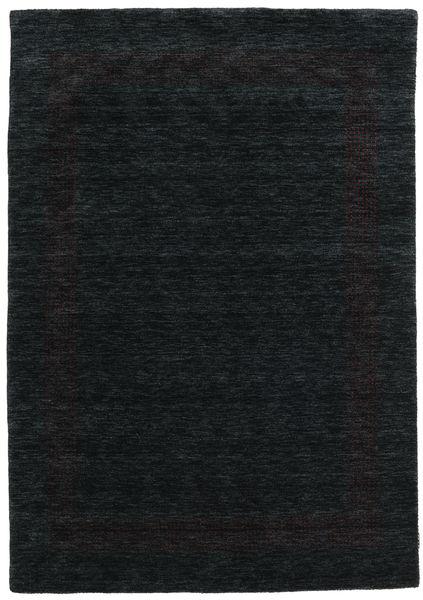 Handloom Gabba - Zwart/Grijs Vloerkleed 160X230 Modern Zwart (Wol, India)