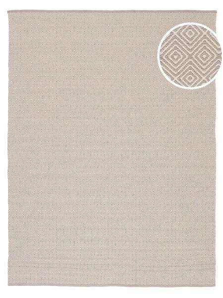 Diamond - Light_Gray Vloerkleed 250X300 Echt Modern Handgeweven Donkerbeige/Lichtgrijs Groot (Katoen, India)