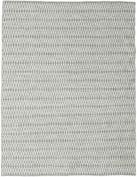 Kelim Long Stitch - Grijs Vloerkleed 190X240 Echt Modern Handgeweven Lichtgrijs/Beige (Wol, India)