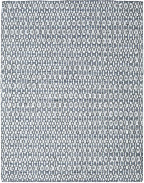 Kelim Long Stitch - Blauw Vloerkleed 190X240 Echt Modern Handgeweven Lichtgrijs/Lichtblauw (Wol, India)