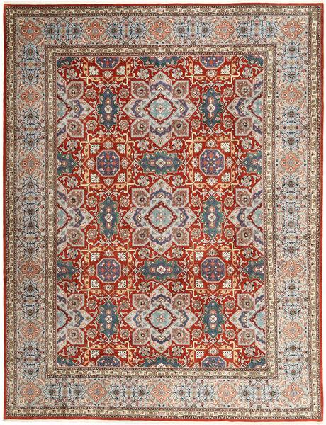 Tabriz 50 Raj Vloerkleed 302X393 Echt Oosters Handgeknoopt Lichtgrijs/Donkerrood Groot (Wol, Perzië/Iran)