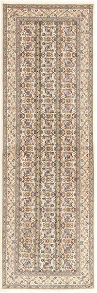 Tabriz 50 Raj Vloerkleed 78X251 Echt Oosters Handgeknoopt Tapijtloper Lichtgrijs/Beige (Wol/Zijde, Perzië/Iran)
