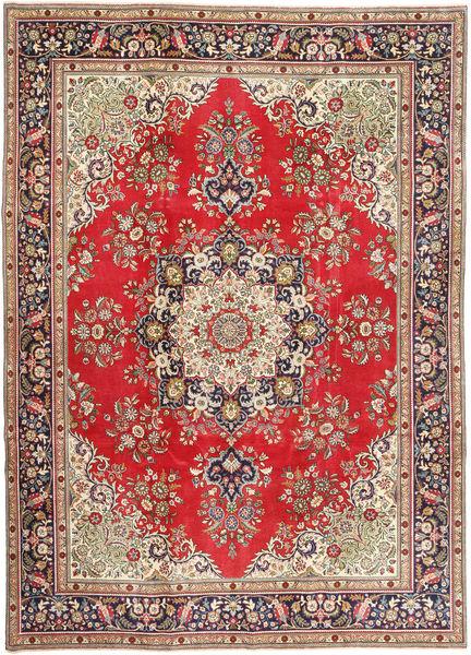 Tabriz Patina Vloerkleed 245X340 Echt Oosters Handgeknoopt Lichtbruin/Lichtgrijs (Wol, Perzië/Iran)